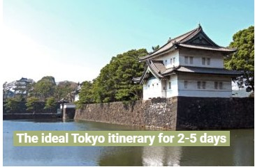 Tokyo itinerary for 2 to 5 days