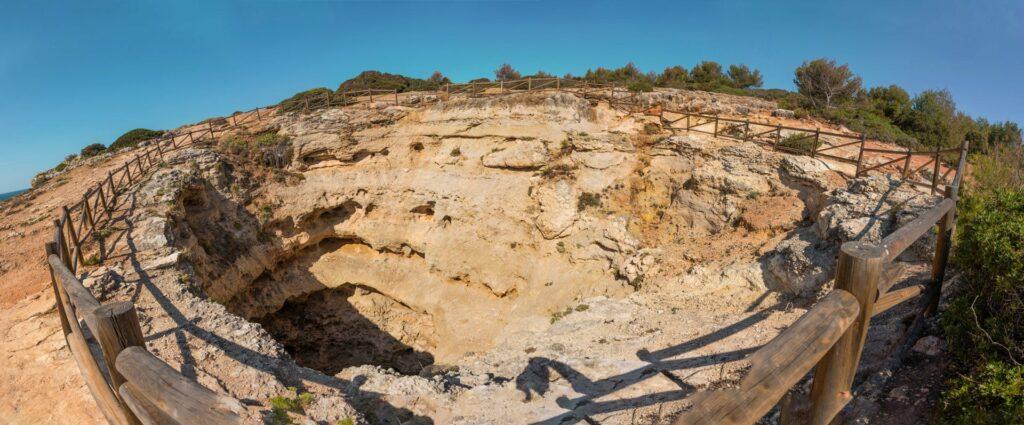 Benagil Cave Top View Algarve Portugal