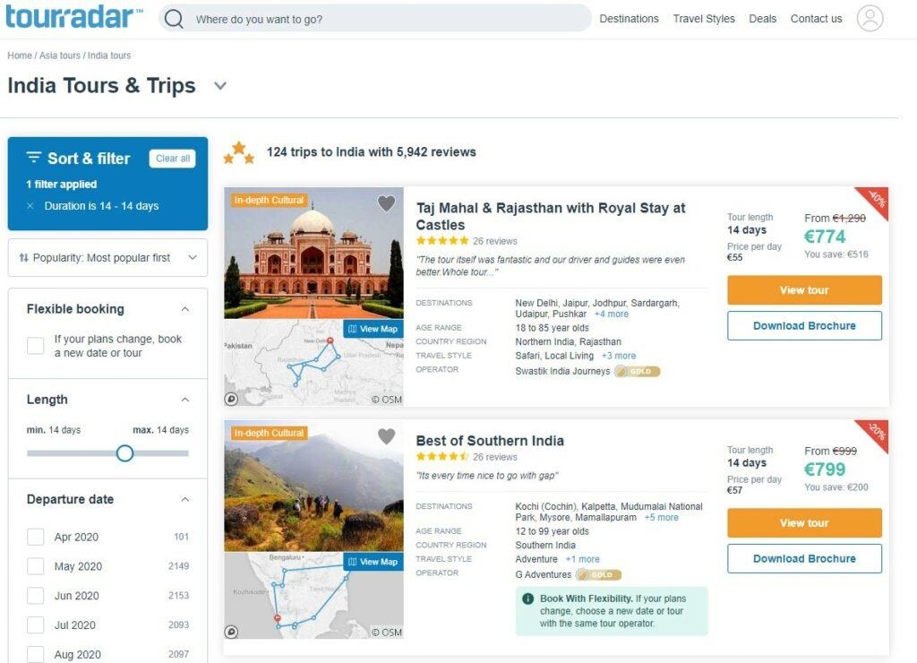 Tourradar India tours