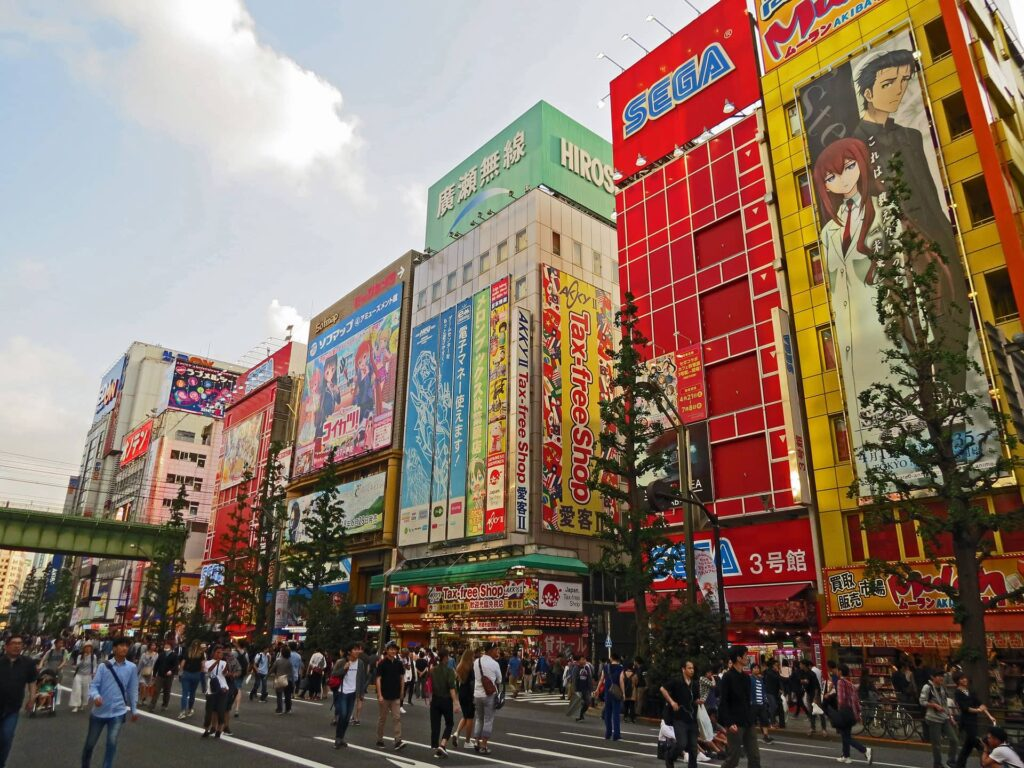 Akihabara, also called Electric City, in Tokyo