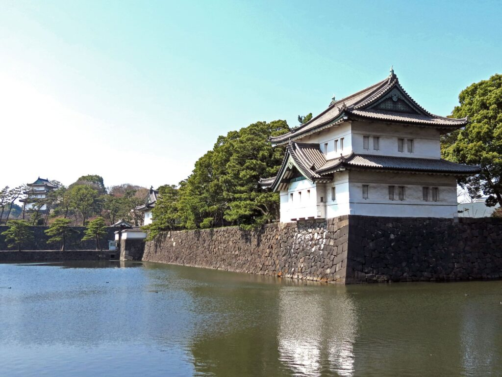 A view on the Imperial Palace in Tokyo