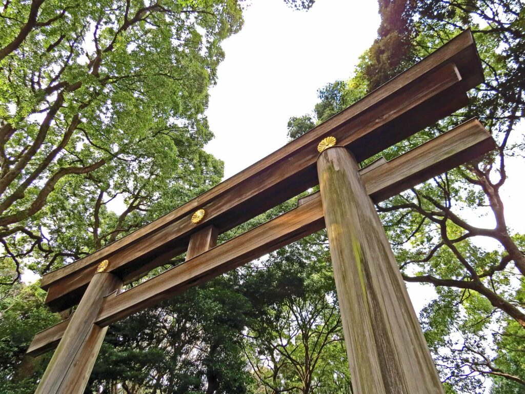 Meiji Shrine in Yoyogi Park Tokyo