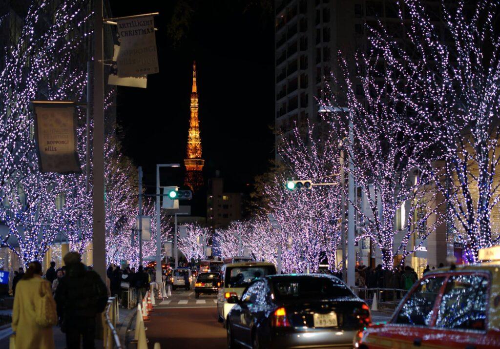 Tokyo Tower From Roppongi Hills Tokyo Japan