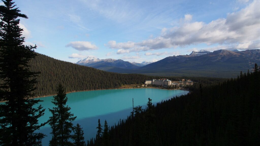 View from the fairview Lookout at Lake Louise