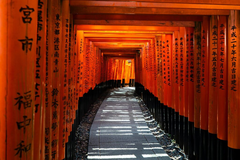 The famous torii gates at Fushimi Inari