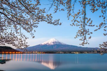 View on Mt. Fuji from Lake Kawaguchiko