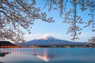 View on Mt. Fuji from Lake Kawaguchiko