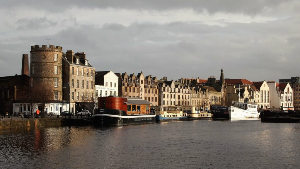 The port in Leith