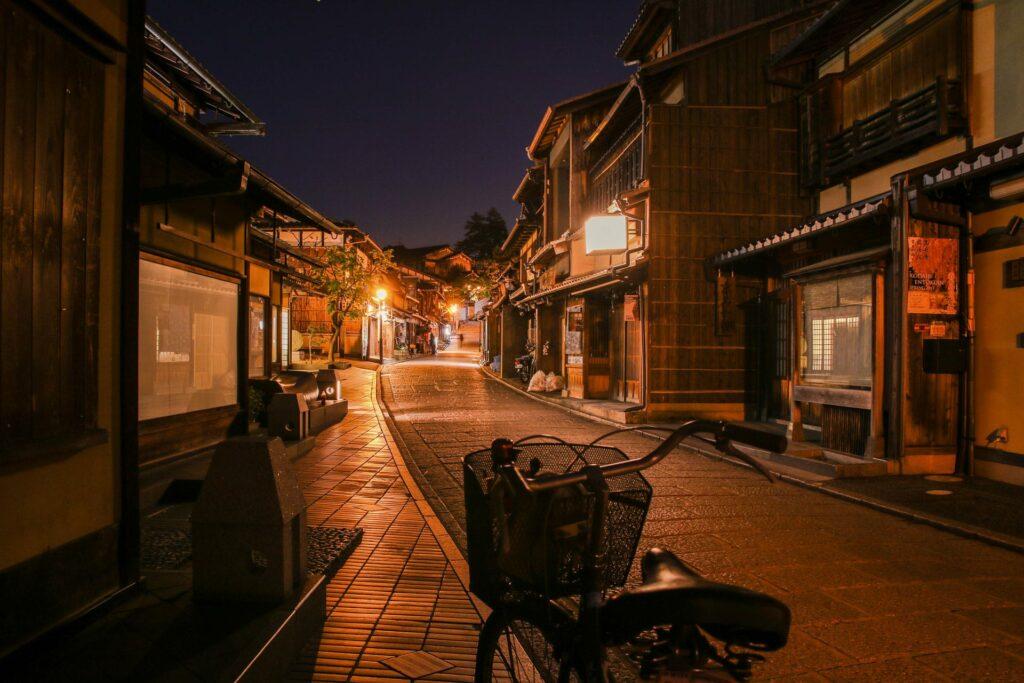 A Street in Southern Higashiyama at night