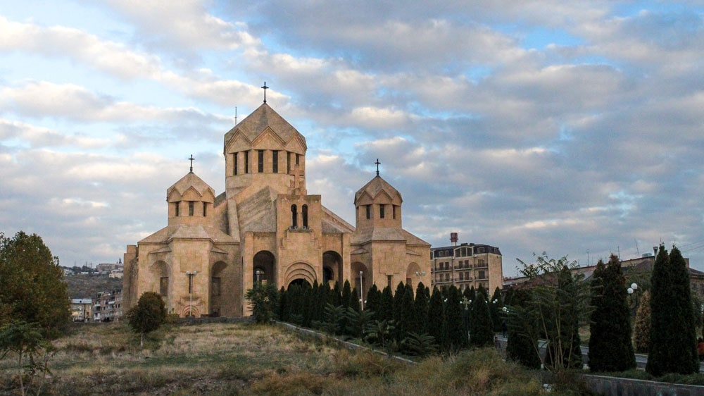 The St. Grigor Lusavorich Cathedral in Yerevan