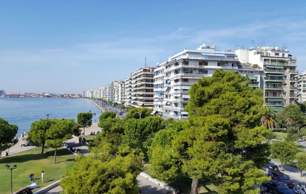A view on the promenade in Thessaloniki