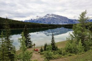 Two Jack Lake with Mt. Rundle in the backdrop