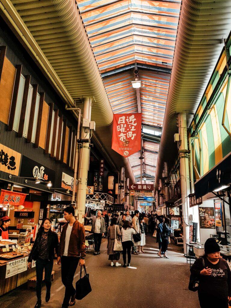 The Omicho Fish Market in Kanazawa, Japan