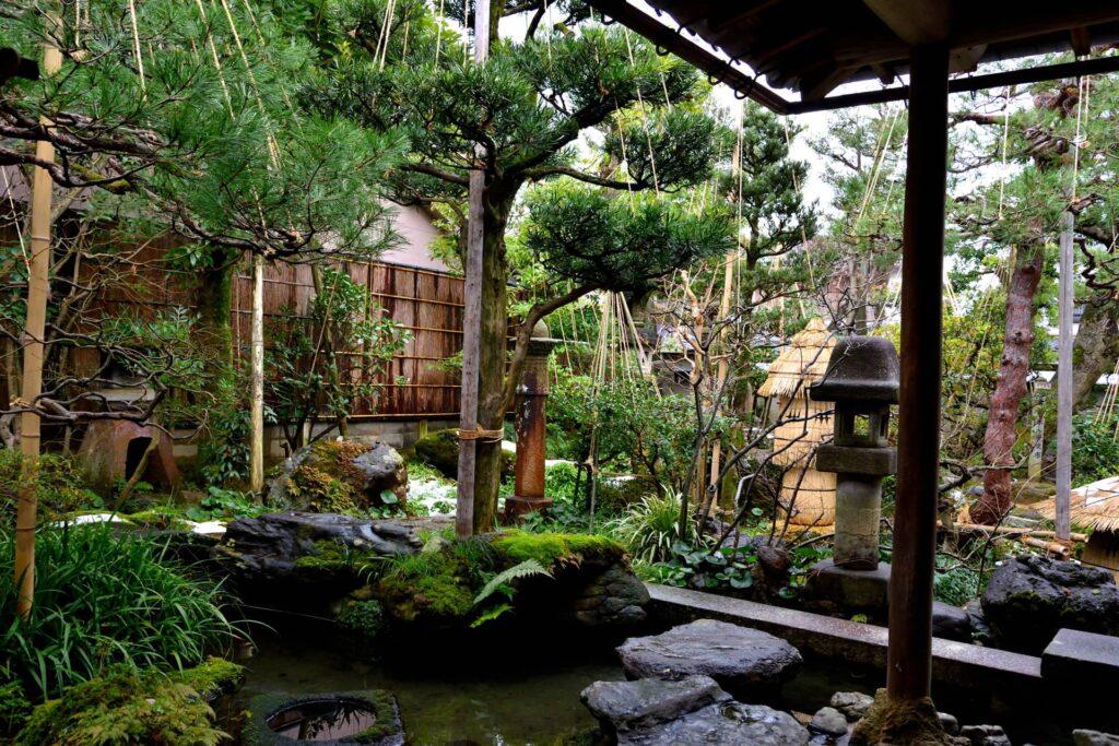 The garden of the Nomura Clan Samurai House