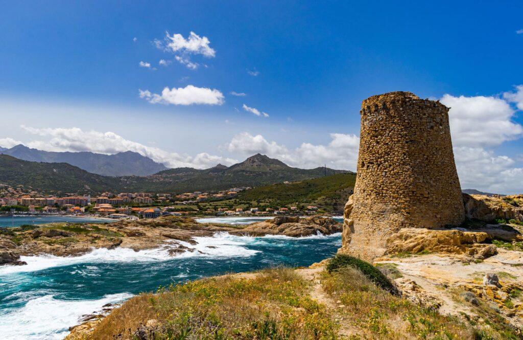 Nuraghi along Sardinia's coastline