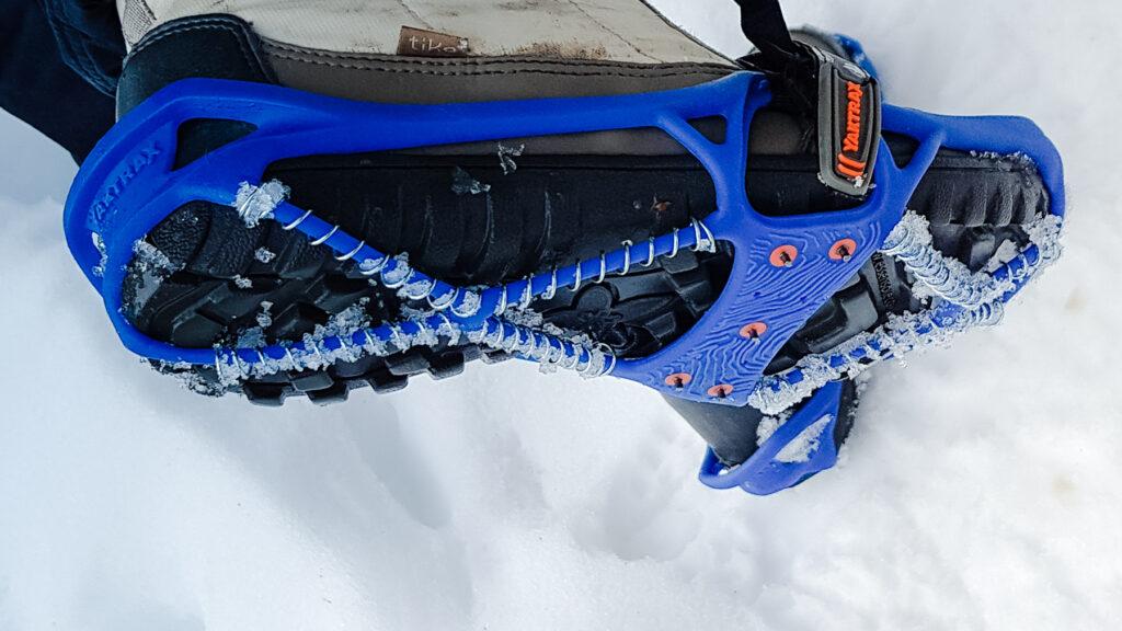 Yaktrax Pro ice cleats close-up