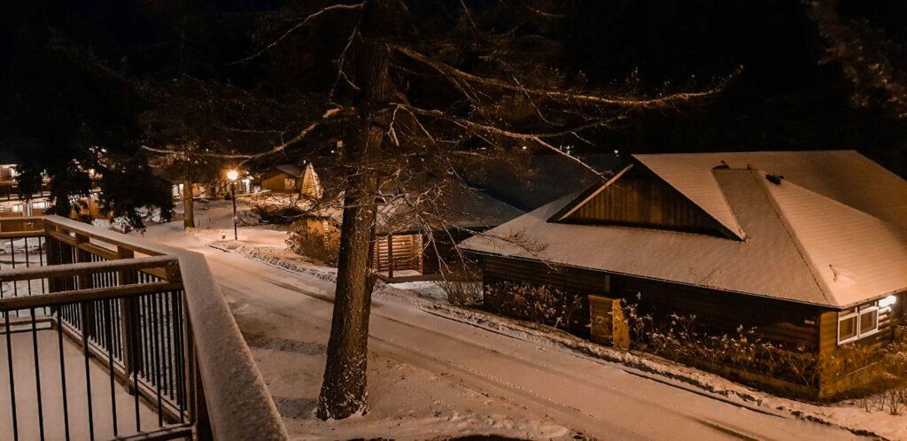 The Jasper Park Lodge in winter