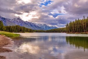 Johnson Lake in Banff National Park