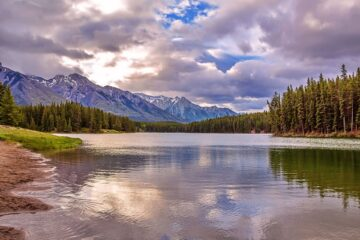 Johnson Lake in Banff National Park