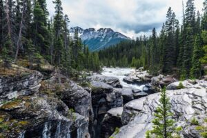 Mistaya Canyon in Banff National Park