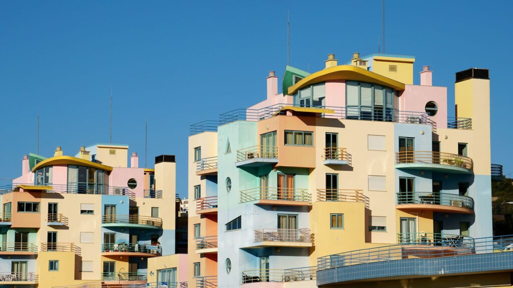 Colorful apartments on the marina of Albufeira