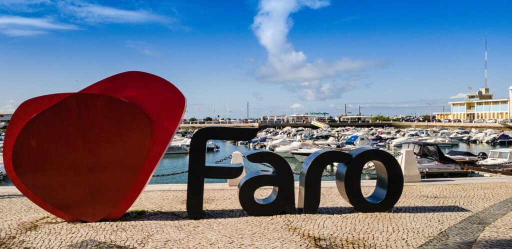 The Faro Harbor in Portugal