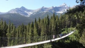 The Blackshale Suspension Bridge in Kananaskis