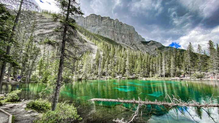 one of the best easy hikes in Kananaskis leads to Grassi Lakes