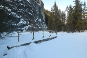 Heart Creek is one of the easy hikes in Kananaskis that can also be done in the winter