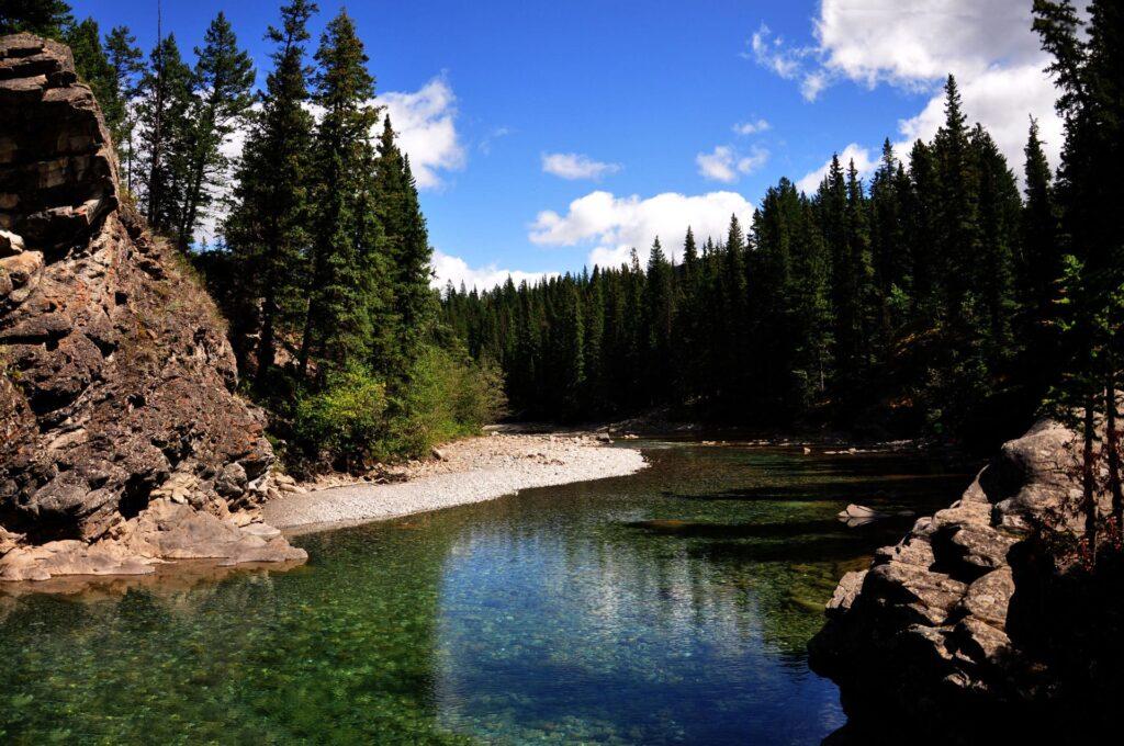 Kananaskis River near Canmore Alberta Canada