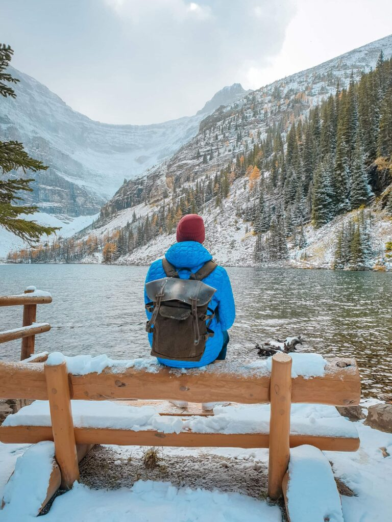 Lake Annette is a great winter hike in the Jasper area