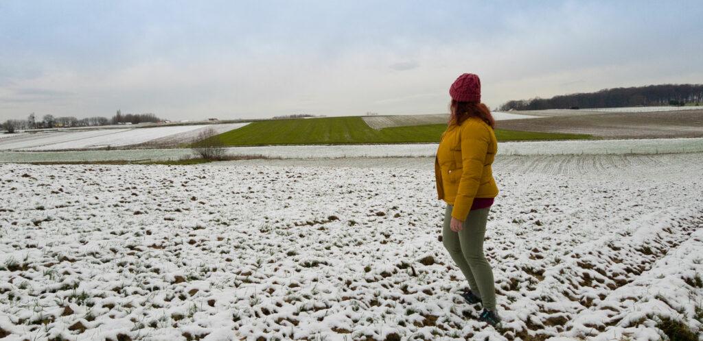 Sylvia with the Baleaf fleece-lind winter hiking leggings