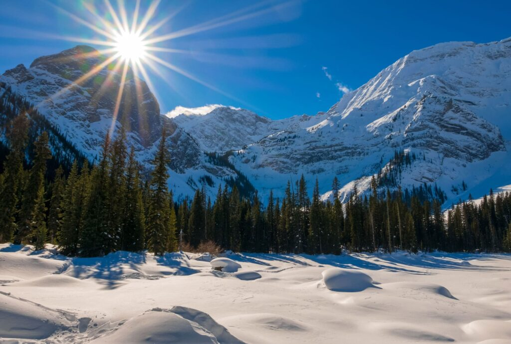 The Black Prince Cirque trail, one of the best winter hikes in Kananaskis