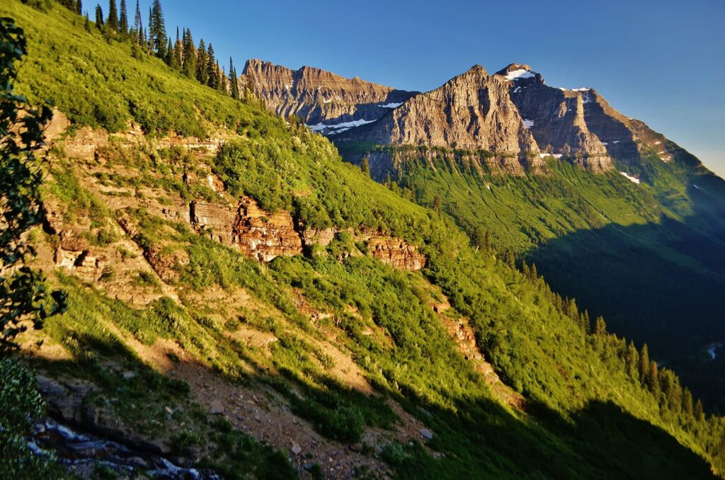 Breathtaking vistas from the Going to the Sun Road
