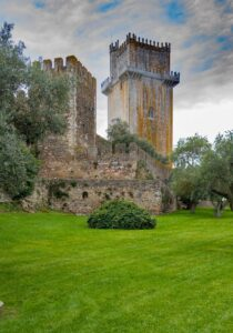 The marble tower of Beja Castle in Portugal