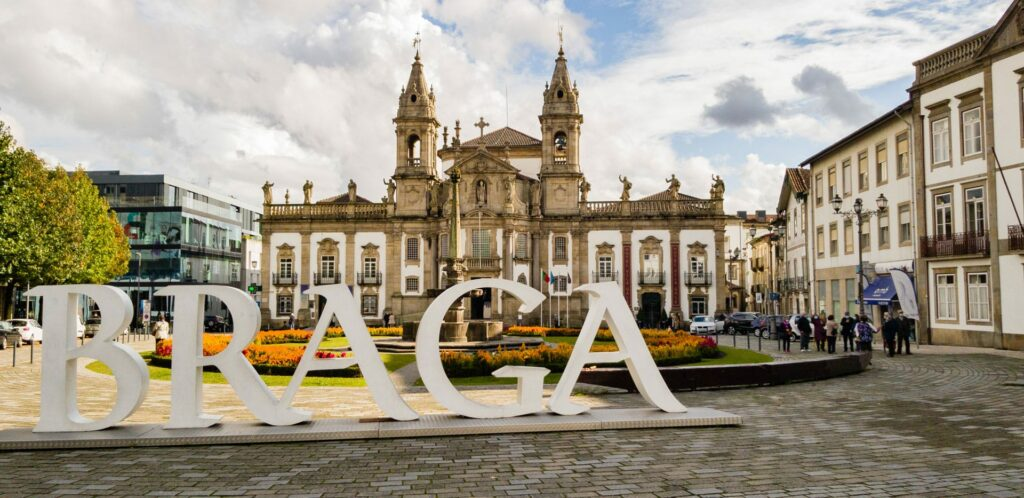 The charming small town of Braga, Portugal
