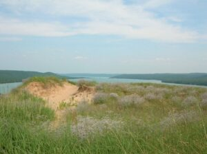 View on Glen Lake from the Cottonwood trail in Sleeping Bear Dunes National Lakeshore