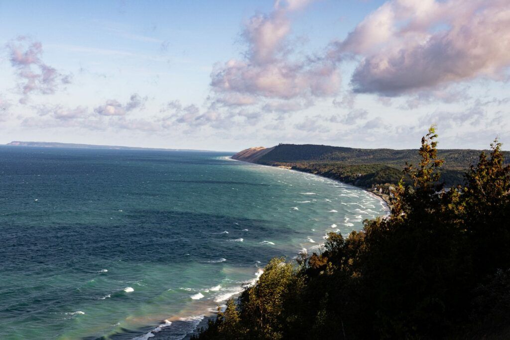 View from the Empire Bluff Trail in Sleeping Bear Dunes National Lakeshore