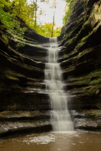 French Canyon Falls in Starved Rock State Park
