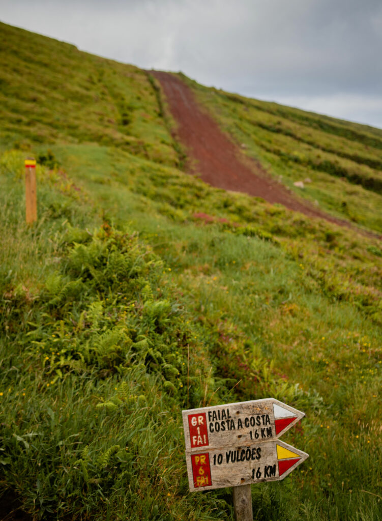 Hiking is a great way to explore Faial Island