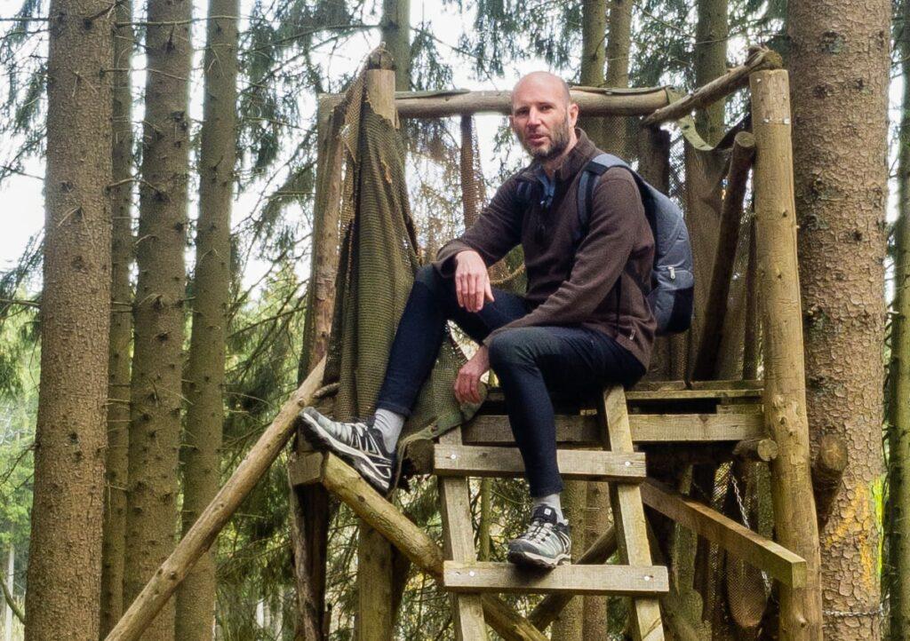 Kris wearing the Salomon X Ultra 3 Low GTX hiking shoes