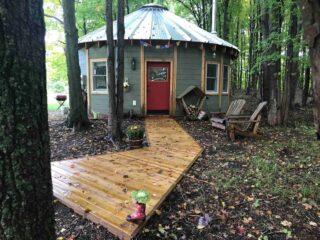 Amazing sleeping bear dunes airbnb yurt