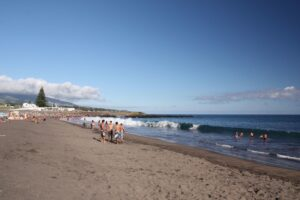 Praia do Populo, the best beach in Ponta Delgada