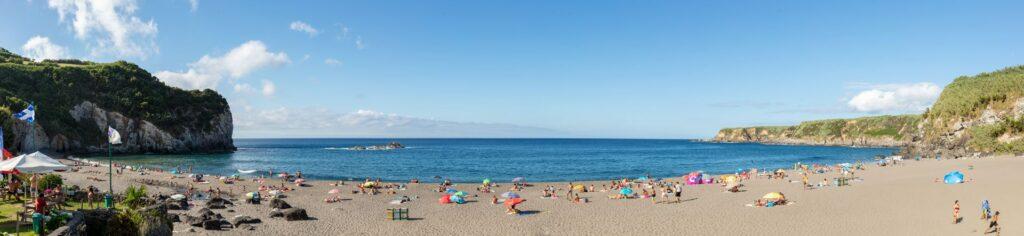 Praia dos Moinhos, a popular beach on São Miguel in the Azores