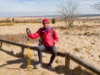 Exploring the high fens with TrailBuddy hiking poles