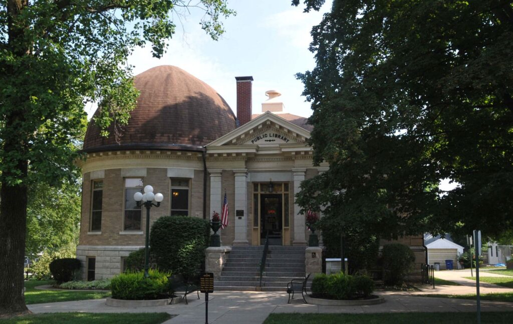 The Carnegie Public Library in the little town of Greenville, Illinois