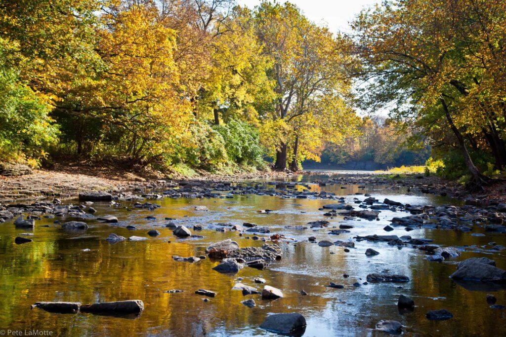 The beautiful Kankakee river in Kankakee River State Park