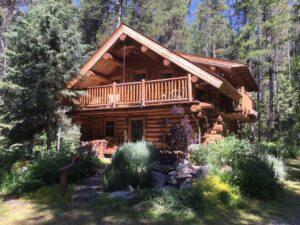 Log cabin near Glacier