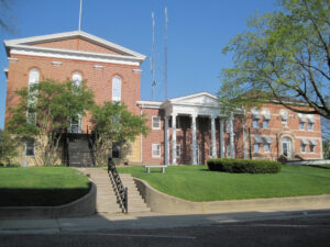 The Mount Carroll courthouse in the pretty little town of Caroll in Illinois