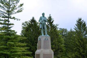 Statue of President Ulysses S. Grant in the Galena Grant Park